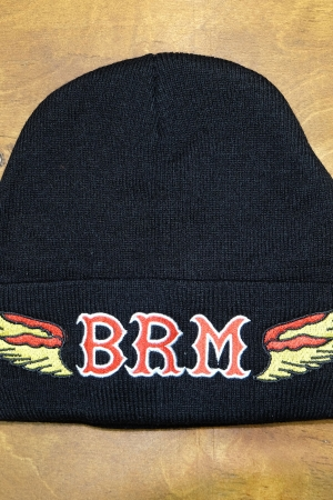 Knit beany hat BRM black