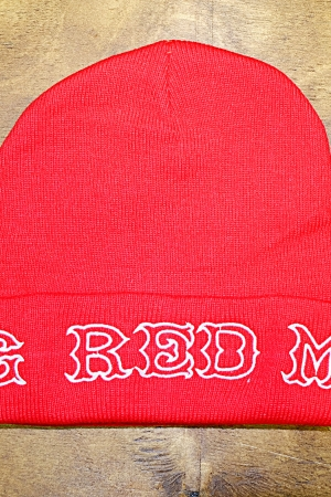 Knit beany hat BRM red