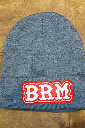 Knit beany hat BRM gray