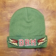 Knit beany hat BRM green